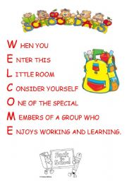 an excellent poster to print for the first day of school