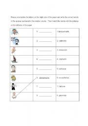 English Worksheets: i am sick