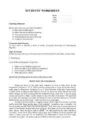 English Worksheets: Recount worksheet