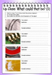 English Worksheet: Group work (brainstorming & discussion) - What could that be?