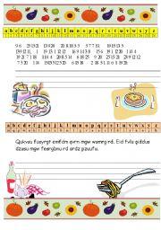 English Worksheet: Cooking brainstorm