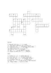English Worksheets Crossword Puzzle Passive Voice