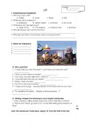 English worksheet: 2 Pages - 6 Tasks for Disney-Pixar´s Up Movie