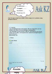 English Worksheets: ask Dr.KZ