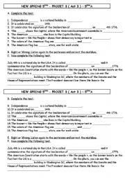 English Worksheets Anticipation Declaration Of Independence