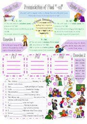 English Worksheet: Pronunciation of Final -ed in Simple Past of Regular Verbs