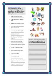 English Worksheet:  4 PAGES WITH WARMERS AND REVIEW ACTIVITIES FOR  INTERMEDIATE STUDENTS