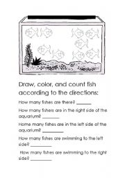 English Worksheets: fish to the left, fish to the right