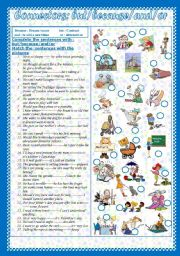English Worksheets: Connectors: but - because-or - and