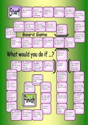 English Worksheet: Board Game - What would you do if...?