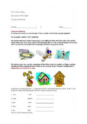 English Worksheets: Compounds