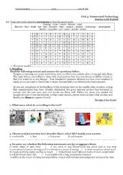 English Worksheet: Robots: a blessing or a curse?
