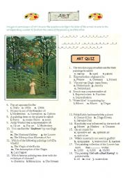 English Worksheets: Art