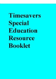 English Worksheets: Timesavers Special Education Resource Booklet
