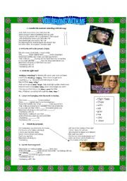 English Worksheets: You belong with me lyrics.