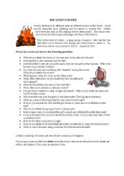 English Worksheets: The Quest for Fire - Movie Worksheet