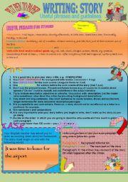 English Worksheet: WRITING: STORIES