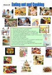 English Worksheet: Eating out and Cooking
