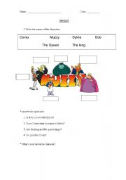 English Worksheet: Muzzy Characters