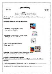 English Worksheets: planning Easter holidays