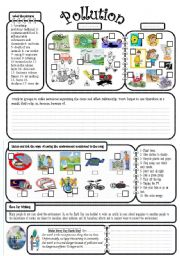 English Worksheet: pollution
