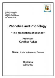 English Worksheets: The production of sounds