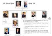 English Worksheet: The British Royal Family Tree