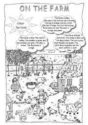 English Worksheet: Colour the farm!
