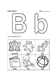 letter bb recognition esl worksheet by sesame teacher. Black Bedroom Furniture Sets. Home Design Ideas