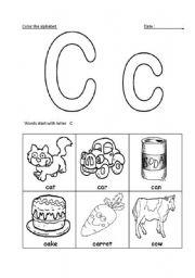 letter Cc recognition   ESL worksheet by sesame teacher