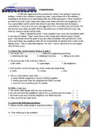 English Worksheets: My neighbour