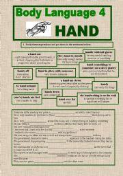 English Worksheets: BODY LANGUAGE 4