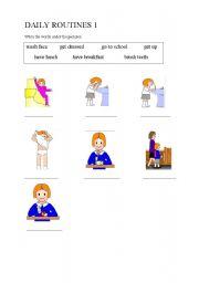 English worksheet: Daily Routines 1