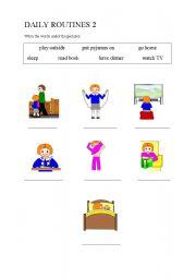 English worksheet: Daily Routines 2