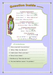 English Worksheets: Question Inside ......