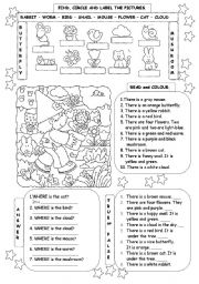 English Worksheets: WHERE ARE THESE ANIMALS??