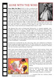 English Worksheets: Gone with the wind (1)