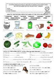 English Worksheet: 6th grade exam