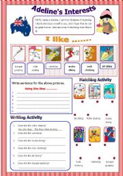 English Worksheets: Adeline�s Interest - Does question