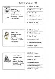 English Worksheets: greeting