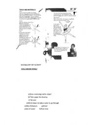 English worksheet: drawing my face