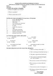English Worksheets: :)