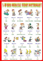 English Worksheets: Second series of 3-Word Phrasal Verbs. Pictionary (Part 1/3). Go along with = Agree