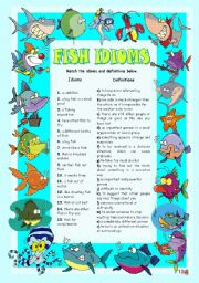English Worksheets: FISH IDIOMS