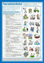 English Worksheet: Present Perfect: just- already-yet (+Key)