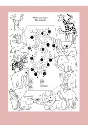 English Worksheets: animal table