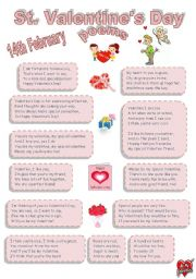 English Worksheet: St. Valentine´s Day poems for youngsters
