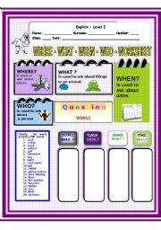 English Worksheets: Worksheet on  What - Who - When - Where -