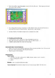 English Worksheet: Lesson plan.The Forest:What do animals eat? Part 2