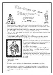 English Worksheet: The Case of the Disappearing Dimes (Mystery to solve)